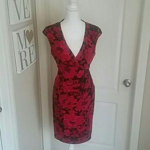 Beautiful Floral Ralph Lauren Dress Size 14